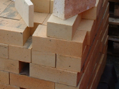 BABY FIREBRICK BEVELLED & BULLNOSED 150x75x38mm