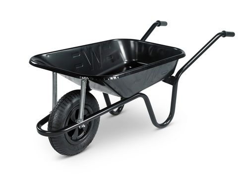 CONTRACTOR H/DUTY 85L WHEELBARROW BUILDERS BARROW BLACK