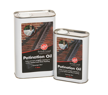 Patination Oil 1 Litre for Lead Roofs, Flashings and Cladding