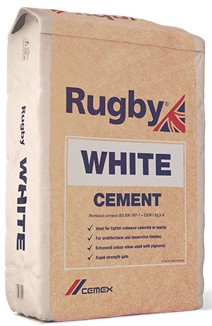 Rugby White Cement 25KG BAG (PP)