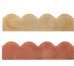 SCALLOPED EDGING BUFF / RED 150x50x600mm